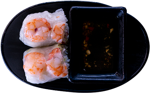 Foto Fresh spring roll shrimp